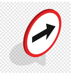 right road sign isometric icon vector image