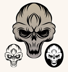 the-skull vector image