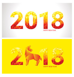 2018 new year banners vector image vector image