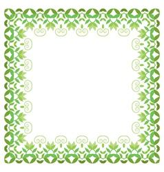 Floral Frame decorative flower ornament vector image vector image