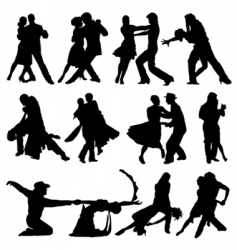 romantic dance vector image