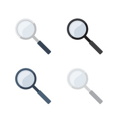 transparent magnifying glasses collecion vector image vector image