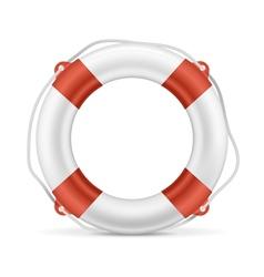 White Lifebuoy vector image vector image