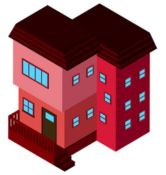 3d design for building in pink color vector image