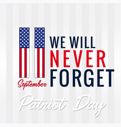 9 11 patriot day usa banner vector