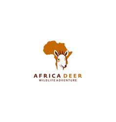 Africa deer logo design vector