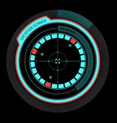 Alarm radar no danger vector