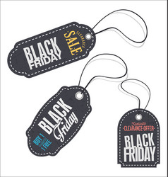 black friday price tag set 2 vector image