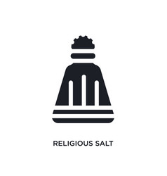 black religious salt isolated icon simple element vector image