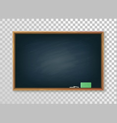 Blank college or school blackboard on transparent vector