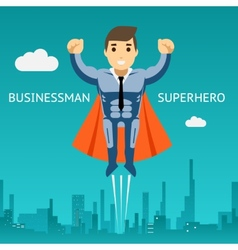 Cartooned Superhero Businessman Graphic Design vector