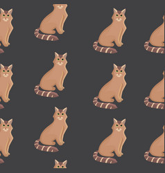 cat seamless pattern cute kitten in vector image