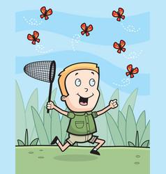 Chasing butterflies vector