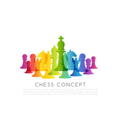 chess colorful leadership or strategy conceptual vector image