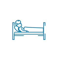 children hospital linear icon concept children vector image