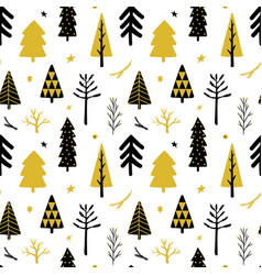christmas tree seamless background vector image