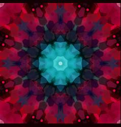 circle pattern made of hexagonal shapes vector image