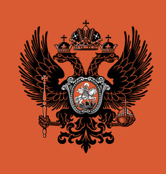 Colorful coat arms russian empire vector