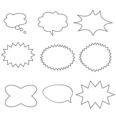 comic speech bubbles on white background retro vector image