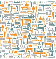 Construction tools seamless pattern vector image