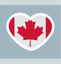 cute sticker canadian flag vector image