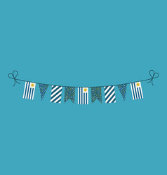 Decorations bunting flags for uruguay national vector