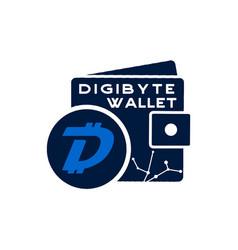digibyte wallet logo graphic digital asset vector image