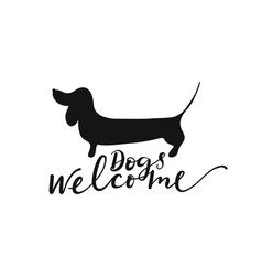 Dogs welcome sign vector