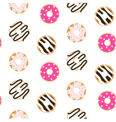 Donut glazed seamless pattern vector