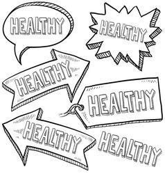 doodle label tag healthy vector image