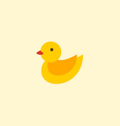 duck toy icon flat element of vector image