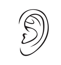 ear outline icon vector image