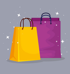 fashion sale bags to special promo vector image