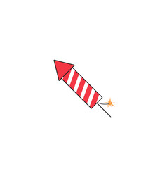 fireworks rocket solid icon flying firecrackers vector image
