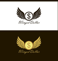 Flying dollar icons vector