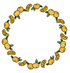 fruit frame frame in the form of a circle wreath vector image