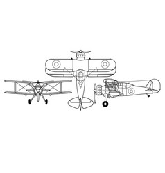Gloster gladiator all vector