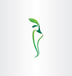Green pepper logo icon design vector