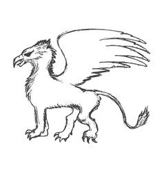 Griffin mythological animal vector