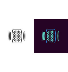 home speaker voice assistant vector image