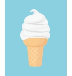 Ice cream flat icon vector