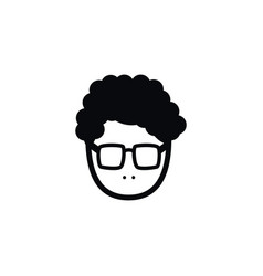 isolated young person icon male element vector image