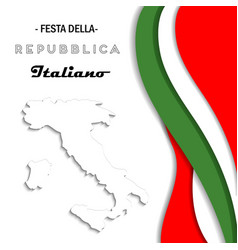 italian national rebuplic day vector image vector image