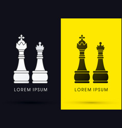 King and queen chess vector