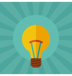 Light bulb idea concept in flat style vector image