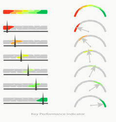 linear and arc-shaped performance indicators vector image