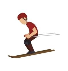 man trainning ski sport vector image
