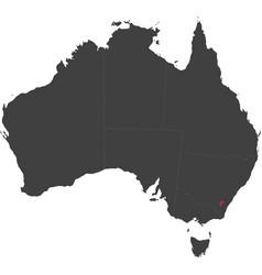 Map of australia - australian capital territory vector