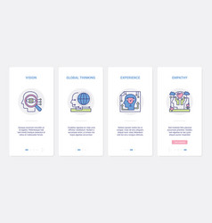Mind experience processes in human head ux ui vector