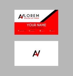modern creative business card template with av vector image